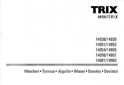 Minitrix Manuale Per Morbido 14938-983. Nuovo-itung Für Weichen14938-983. Neu It-it Mostra Il Titolo Originale