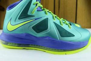 LEBRON X YOUTH SIZE 6.0 SAME AS WOMAN 7.5 SPORT TURQUOISE NEW RARE LEGIT