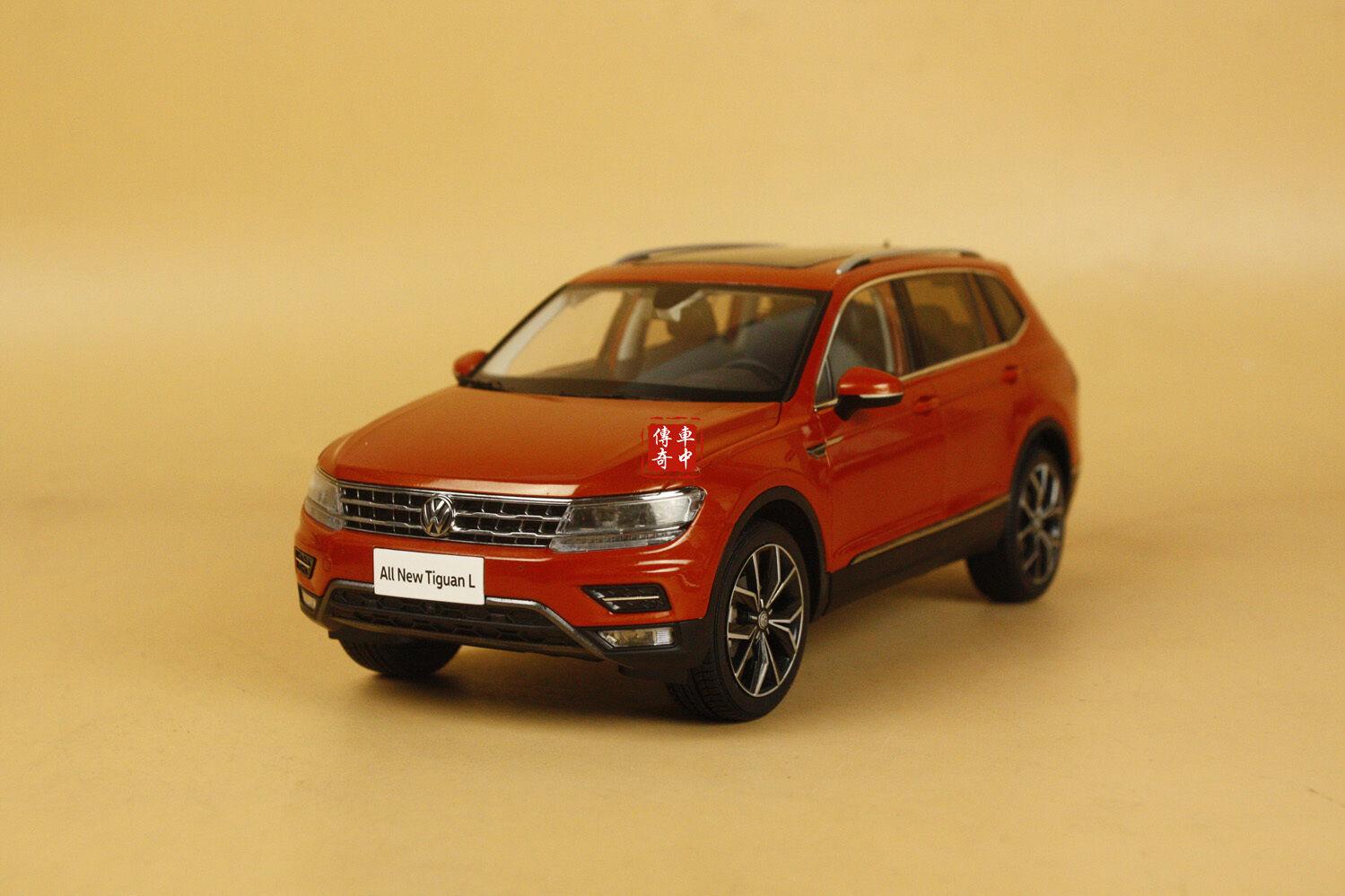1 18 2017 Volkswagen Nuevo Tiguan L Modelo Diecast Coloree arancia + Regalo