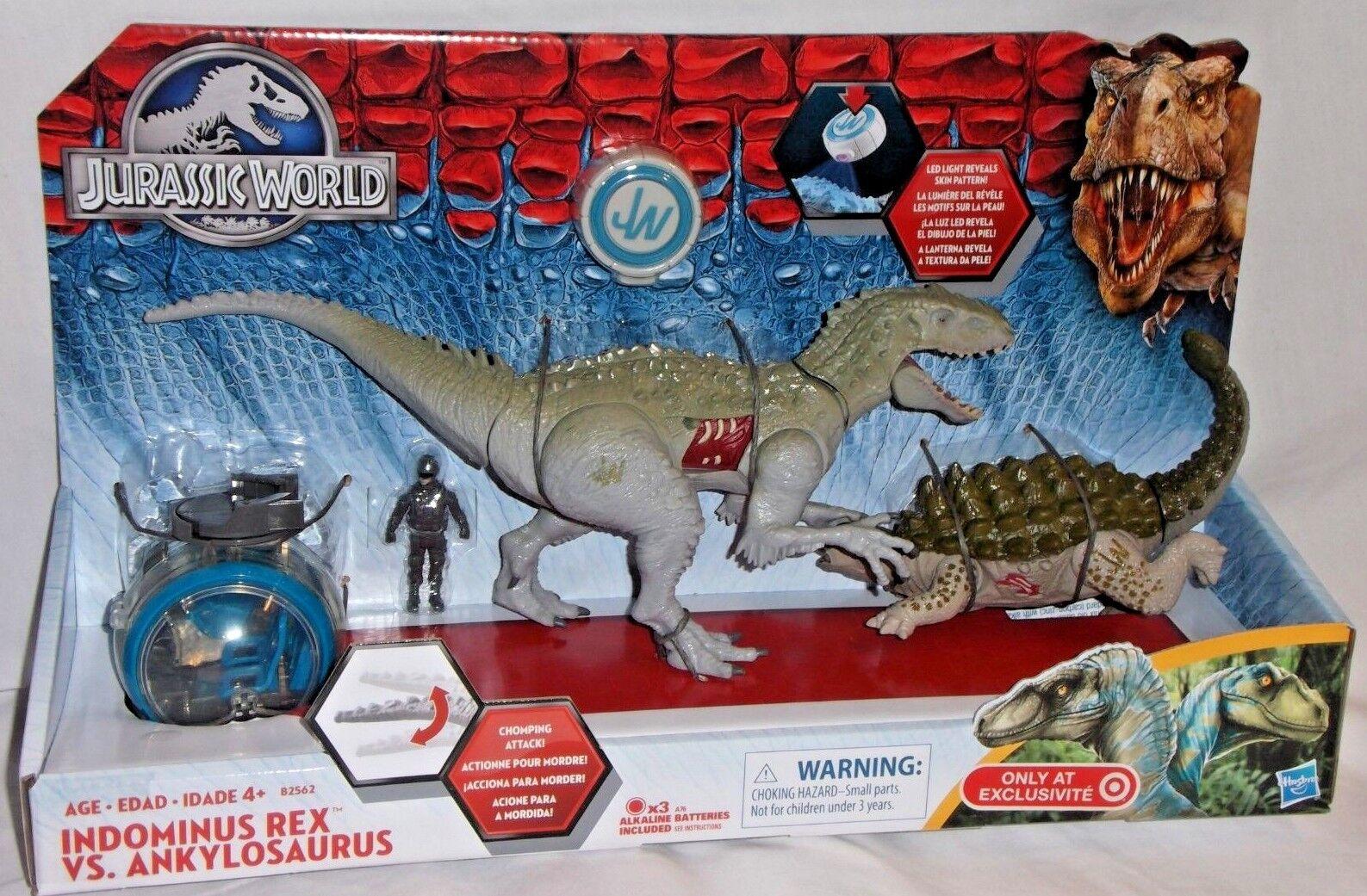 Objetivo exclusivo Hasbro indominus Rex anquilosaurio Dinosaurio Jurassic Park World