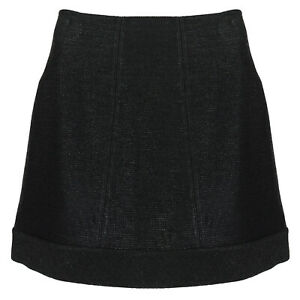 Alaia-Black-Raffia-Bora-Bora-A-Line-Mini-Skirt-FR40-UK12
