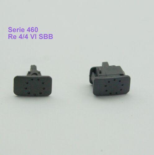 E-Lok 460//Re 4//4 VI SBB 3450 3460 3463 3470*4095 Märklin 415800+415810 Puffer f