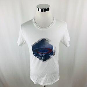 Oakley-White-Short-Sleeve-Regular-Fit-T-Shirt-Mens-Small-S