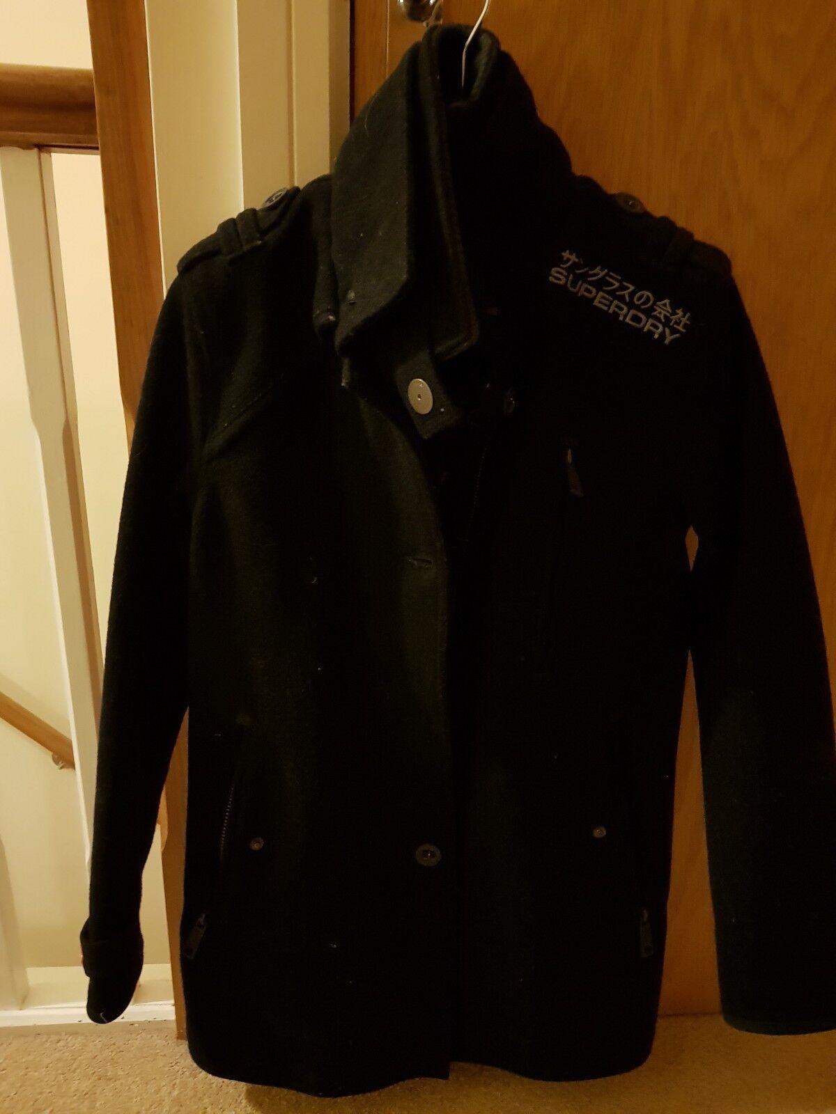 Superdry wool  jermyn trench coat