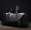 New Mens Black Large PU Leather Travel Gym Bag Weekend Overnight Duffle Handbag