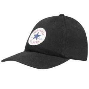 6e46e2c07 Details about CONVERSE MENS BASEBALL CAP.NEW BLACK ADJUSTABLE SNAPBACK CURVED  PEAK HAT