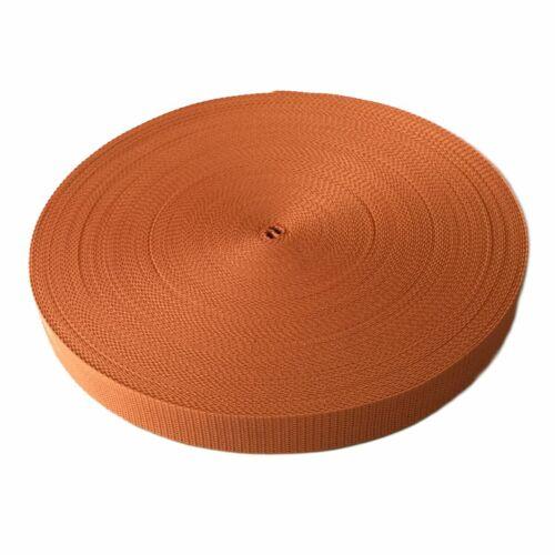 5m Gurtband 25 mm viele Farben Taschenband Trageband Tragegurt Rolladenband