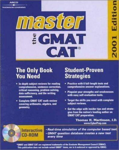 Master the Gmat Cat: 2001 Edition [Peterson's Master the GMAT [w/CD]]