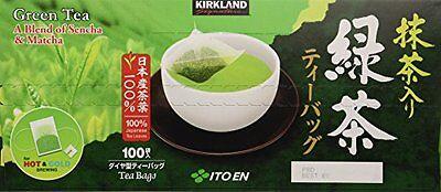 Kirkland Signature ITO EN Green Tea Bags Matcha Blend 100% Japanese 10 25 50 100