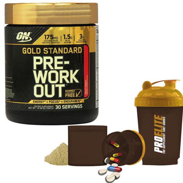 Optimum Nutrition Gold Standard Pre Workout 300g On + Gratis Smart Shaker