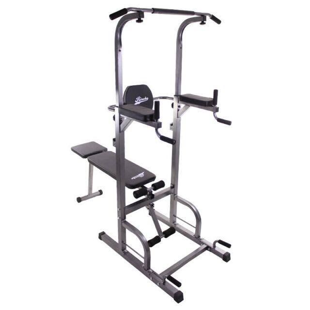Multiestación Torre con Banco Ajustable Fitness musculación entrenamiento
