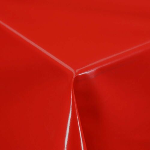 LUXURY PLAIN RED PVC OIL VINYL MATERIAL TABLE CLOTH PROTECTOR WIPE CLEAN PARTY