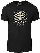 Torn-Rib-Cage-Kids-T-Shirt-Childrens-Halloween-Skeleton-Fancy-Dress-T-Shirt