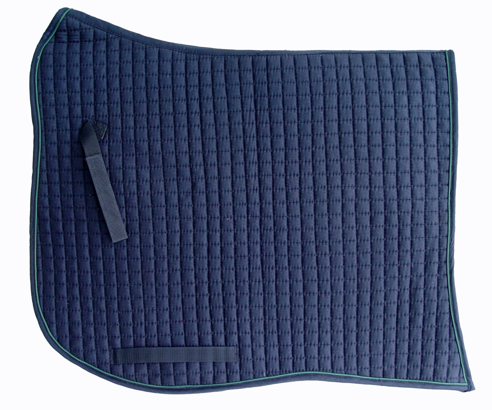 PRI Dressage Pad  Swan-tail, Equu-Felt Cotton Quilt, Wither Relief, Navy Hunter