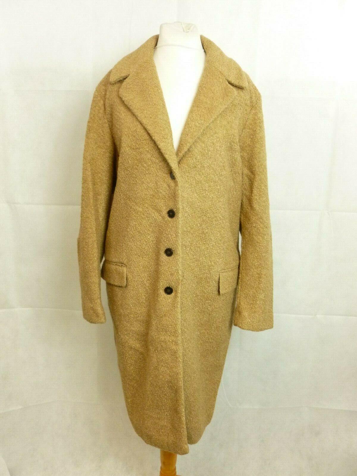 Next Ladies Boucle Coat Size LS172 UU 01
