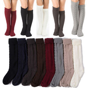 a7d4c6e2c7a25 2018 Womens Winter Cable Knit Over Knee Long Boot Thigh-High Warm ...