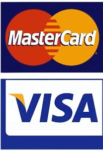 Visa / MasterCard LARGE Credit Card Logo Decal Sticker ...