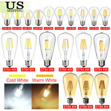 Vintage LED E26 4W 6W 8W Dimmable Edison CoB Filament Light Retro 110V Lamp
