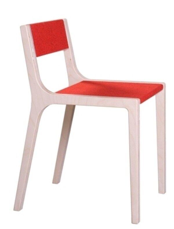 Rouge Sirch Sibis Sepp-Enfants Chaise en bois et feutre-Neuf-Livraison immédiatement