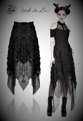 Dark in Love Luxury Victorian High Waist Black Party Skirt for Gothic Punk Women