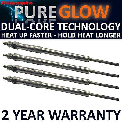 4X Diesel Glow Riscaldamento Candele Per CITROEN FORD PEUGEOT 2.0 HDI 1.6 DUAL CORE