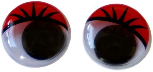 12 wackelaugen con gente de tu color pestañas//20mm de diámetro//no autoadhesivas//bricolaje