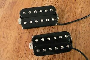HUMBUCKER-PICKUP-SET-NICKEL-SILVER-BLACK-ALNICO-2-CERAMIC-FOUR-CONDUCTOR-WIRED