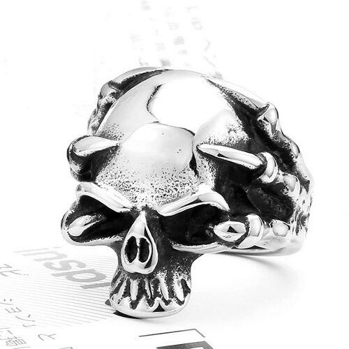 Super Cool De Acero Inoxidable Garra Cabeza cráneo BIKER Anillo