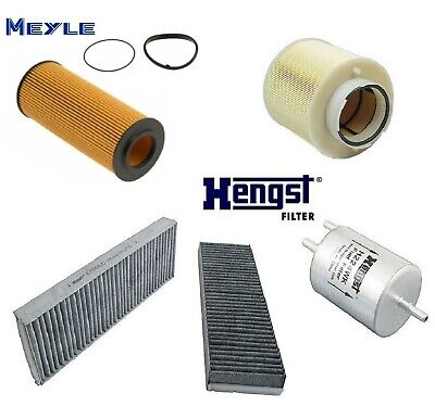 Tune UP KIT Spark Plugs Cabin Air Fuel Filters for Audi A4 Quattro V6;3.2L 05-09