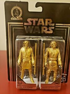 Star Wars Commemorative Edition Skywalker Saga Gold Obi-Wan & Anakin Set NEW! 2E