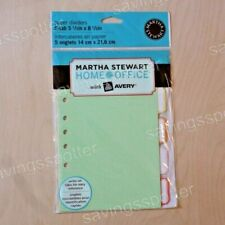 Martha Stewart Home Office With Avery Paper Dividers 5 Tab 5 12 X 8 12