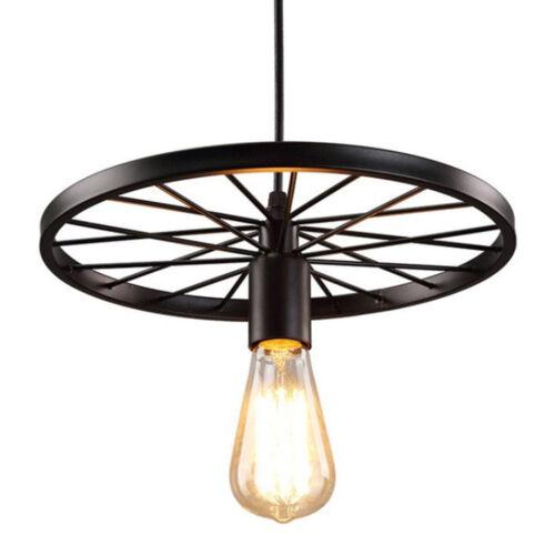 Vintage Style Moderne plafond lumière pendentif lampe abat-jour Lustre Roue Lumières UK