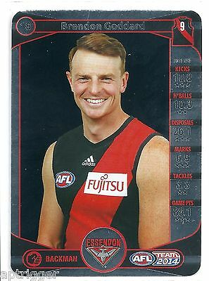 2014 Teamcoach Silver Brendon Goddard Essendon Pleasant In After-Taste 18