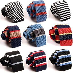 Fashion-Men-039-s-Colourful-Tie-Knit-Knitted-Tie-Necktie-Narrow-Slim-Skinny-Woven