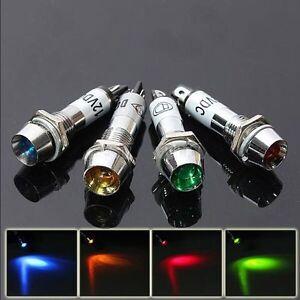 12v Voyant Sur Détails Mini Témoin Turn 8mm Warning Signal Indicateur Lampe Panneau Bord Led eH9WD2EIY