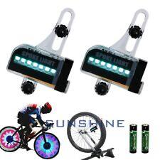Bicycle Cycling Bike Tyre Tire Wheel Valve 14 LED Flash Spoke Warning Light H1