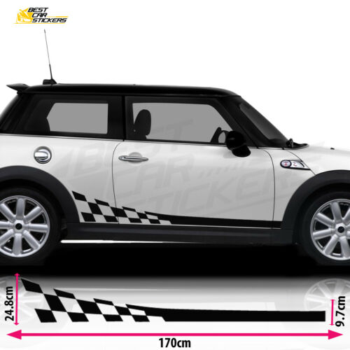 Fits Mini Cooper S Side Racing Stripes Car Stickers Decal Vinyl Design A 1