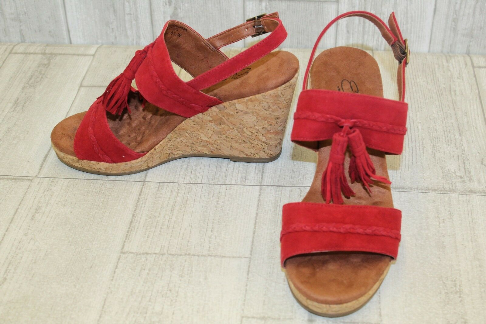 Elites By Walking Cradles Kalinda Wedge Sandals - Donna    Dimensione 8.5 W - rosso NEW  7e2f1d