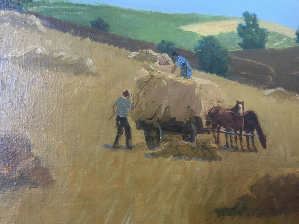 Albert Petersen høst maleri