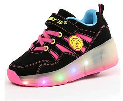 Meurry Wheel Trainers LED Light Up Sport Shoes For Kid Gift