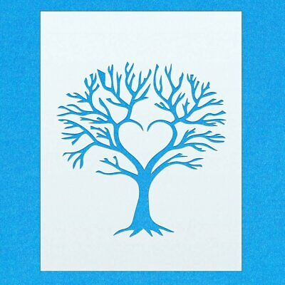 Love Heart Tree Shape Mylar Airbrush Painting Wall Art Crafts Stencil