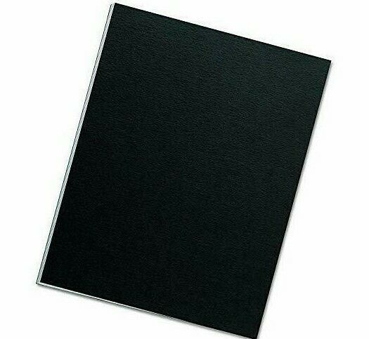 Pack of 100 Black Fellowes Chromolux Gloss A4 Heavyweight 250gsm Presentation Covers