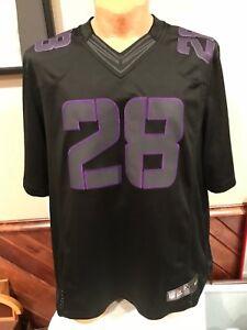 Details about SWEET Adrian Peterson Minnesota Vikings Men's XL BLACK Nike On Field Jersey NICE