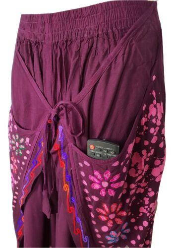 Women/'s Fashion Palazzo ricamato Harem Aladino Wrap PANTALONE Yoga 8 10 12 14 16