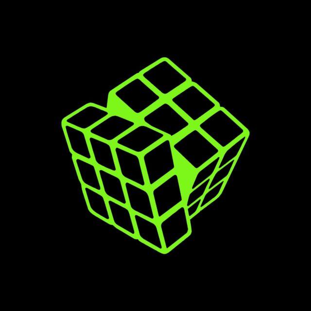 Rubik S Cube Decal Sticker 5 X 5 Inch Green Vinyl Ebay