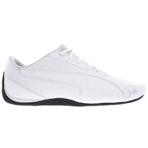 Puma Drift Cat 5 Core Herren Schuhe 362416-03 Weiß Leder Sneaker Turnschuhe NEU