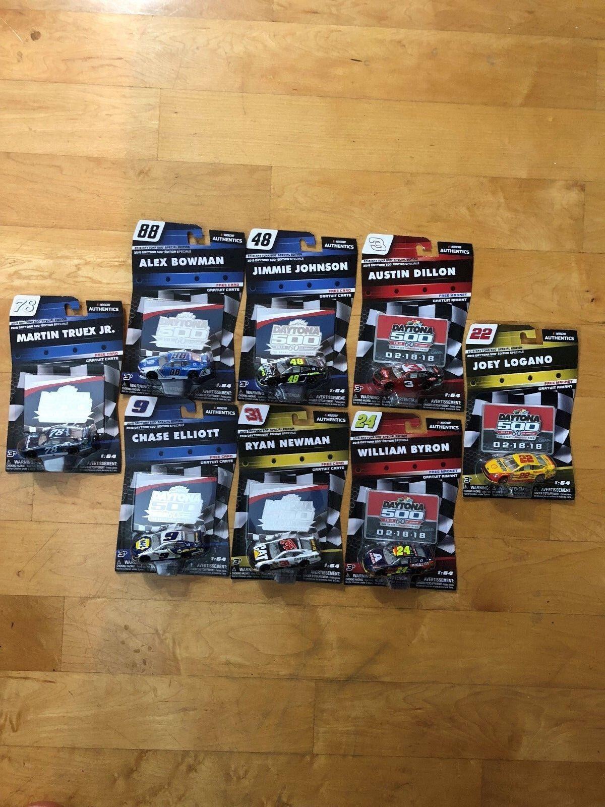 Nascar Authentics 2018 Daytona 500 Special Edition lot of 8 ELLIOTT, TRUEX JR. +