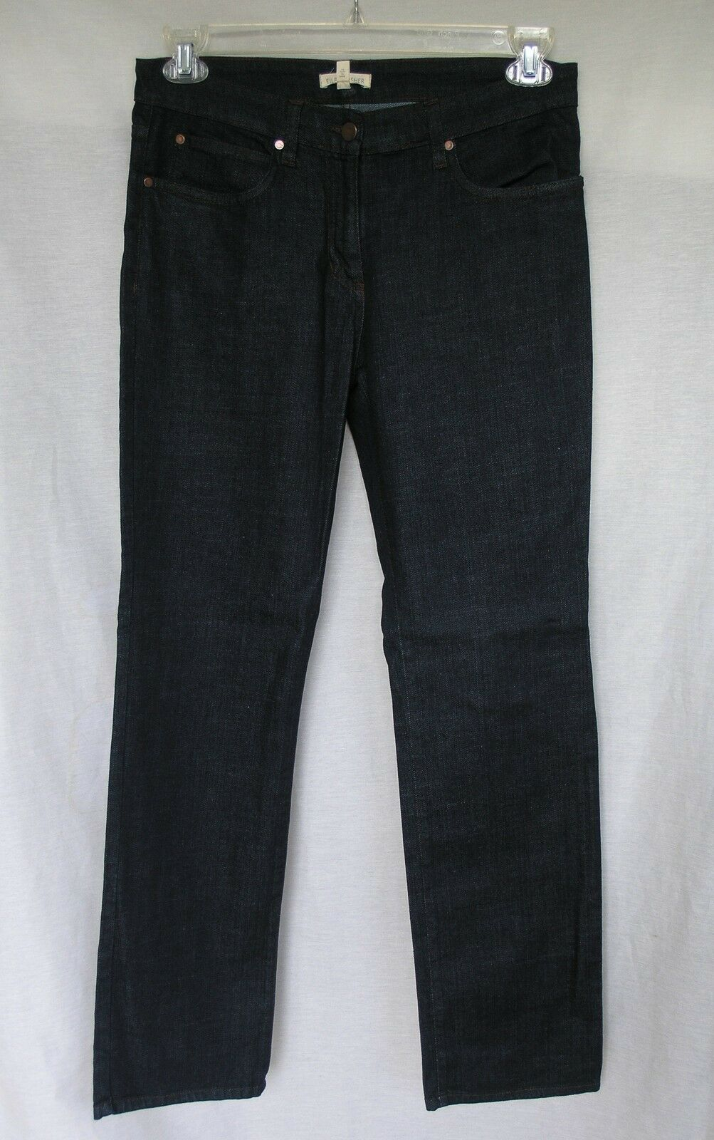 148 EILEEN FISHER ORGANIC COTTON STRETCH DENIM STRAIT JEAN RIVETS 2