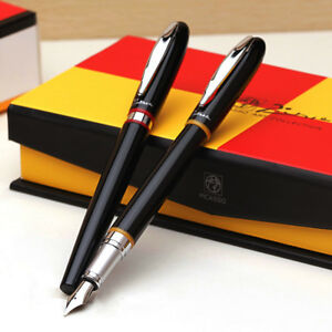 Picasso-907-Montmartre-Fountain-Pen-Black-and-Yellow-Red-Ring-Writing-Gift-Pen