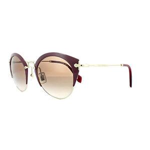 39bfe8049c1 Miu Miu Sunglasses 53RS UA50A6 Amaranth Pale Gold Brown Gradient ...